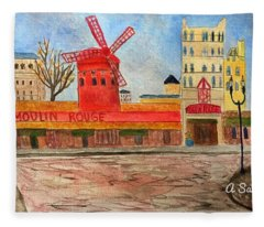 Moulin Rouge Fleece Blanket