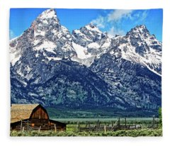 Moulton Barn At Mormon Row Inside Grand Teton National Park Fleece Blanket