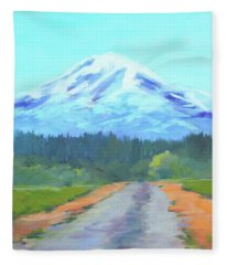 Mount Adams Painting Fleece Blanket