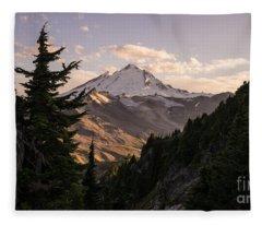 Mount Baker Beautiful Landscape Fleece Blanket