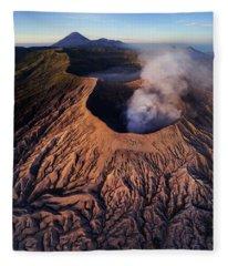 Mount Bromo At Sunrise Fleece Blanket