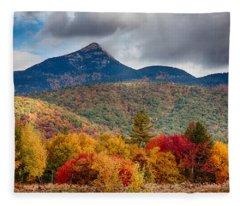 Peak Fall Colors On Mount Chocorua Fleece Blanket