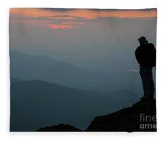 Mount Clay Sunset - White Mountains, New Hampshire Fleece Blanket