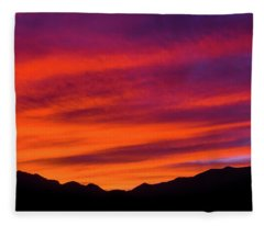 Mount Franklin Purple Sunset Fleece Blanket