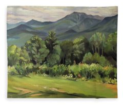 Mount Lafayette From Sugar Hill New Hampshire Fleece Blanket