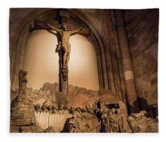 Mount Of Olives Strasbourg Cathedral Fleece Blanket
