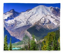 Mount Rainier IIi Fleece Blanket