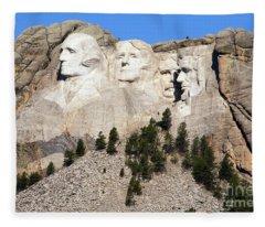 Mount Rushmore I Fleece Blanket