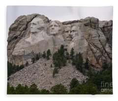 Mount Rushmore Fleece Blanket