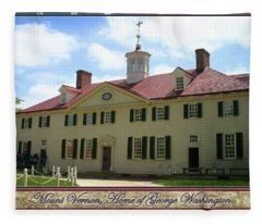 Mount Vernon Home Of George Washington Fleece Blanket