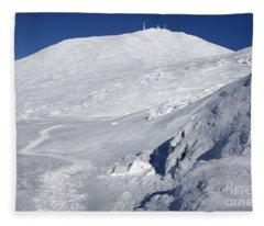 Mount Washington - White Mountain New Hampshire Usa Winter Fleece Blanket