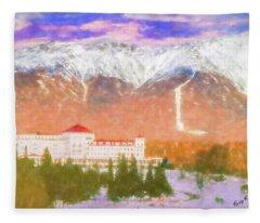 Mount Washington Hotel. Fleece Blanket
