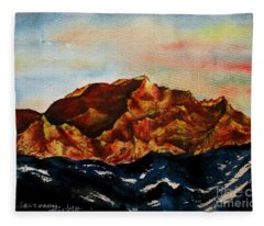 Mountain-3 Fleece Blanket