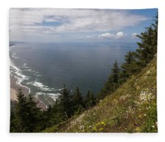 Mountain And Beach Fleece Blanket