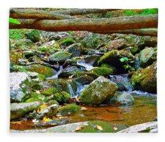 Mountain Appalachian Stream 2 Fleece Blanket