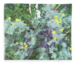 Mountain Flowers Fleece Blanket