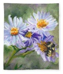 Mountain Flowers Fleece Blanket