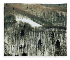 Mountain Forest Fleece Blanket
