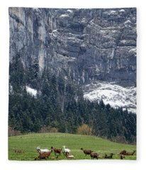 Mountain Goats Mountain Fleece Blanket