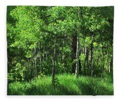 Mountain Greenery Fleece Blanket