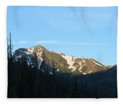 Mountain In Rocky Mountian Np Co Fleece Blanket