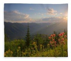 Mountain Light Fleece Blanket