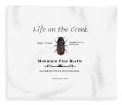 Mountain Pine Beetle Color Fleece Blanket