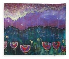 Mountain Poppies Fleece Blanket