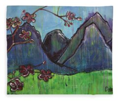 Copper Mountain Pose Fleece Blanket
