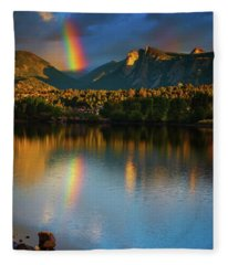 Mountain Rainbows Fleece Blanket