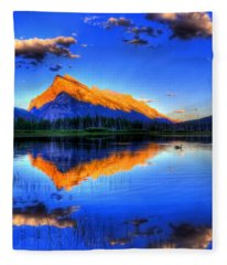 Mountain Reflection Fleece Blanket