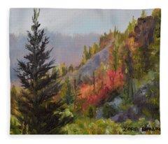Mountain Slope Fall Fleece Blanket