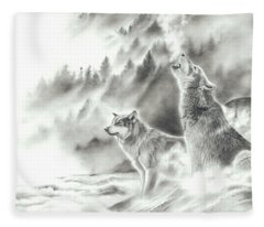 Mountain Spirits Fleece Blanket