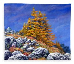 Mountain Tamaracks Fleece Blanket