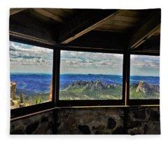 Mountain Top View Fleece Blanket