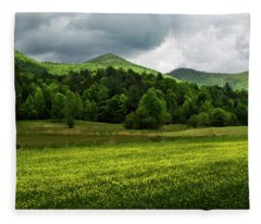 Mountain Wildflowers Fleece Blanket
