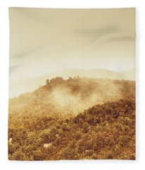 Mountainous Tasmanian Mist Fleece Blanket