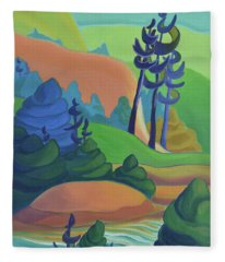 Hills In Spring Fleece Blanket