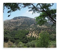 Mountains Near Iznajar Fleece Blanket