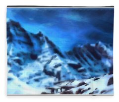Mountains Of The South  Fleece Blanket
