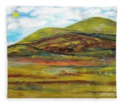 Mountaiscape 2  Fleece Blanket