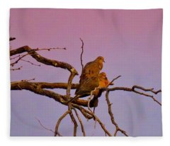 Mourning Doves Fleece Blanket