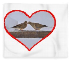 Mourning Doves Kissing Fleece Blanket