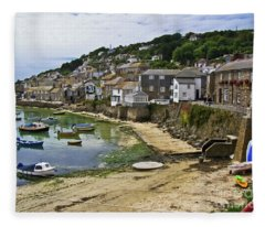 Mousehole Harbour, Cornwall Fleece Blanket