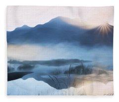 Moving Forward - Inspirational Art Fleece Blanket