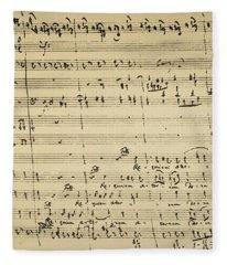 Mozart: Requiem Excerpt Fleece Blanket