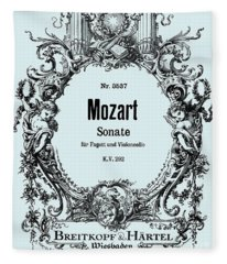 Mozart  Sonata For The Bassoon And Violoncello    Fleece Blanket