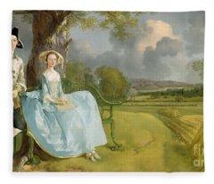 Mr And Mrs Andrews Fleece Blanket