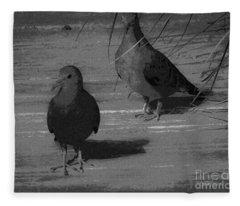 Mr And Mrs Dove Fleece Blanket