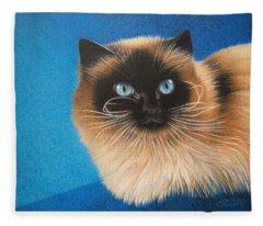 Mr. Blue Fleece Blanket